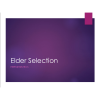 Class: Elder Selection